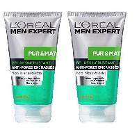 Nettoyant Visage - Demaquillant L'OREAL Men Expert Hydra Pur et Mat Toilette Exfoliant - 150 ml