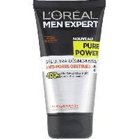Nettoyant Visage - Demaquillant MEN EXPERT - Pur et Mat Gel Desincrustant Anti-pores Encrasses - 150 ml
