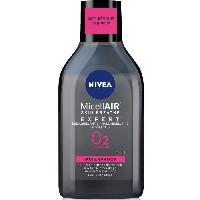 Nettoyant Visage - Demaquillant NIVEA Démaquillant Biphase Expert Black micellaire - Pour peaux sensibles - 400 ml