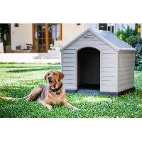 Niche Niche pour chien en PVC beige et marron 99 x 95 x 99cm