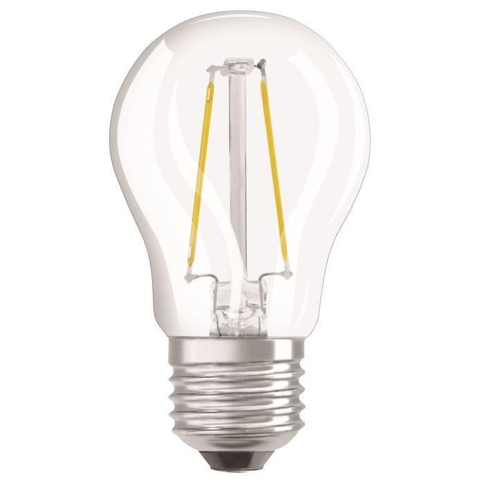 OSRAM-Ampoule-LED-E27-spherique-claire-4-5-W-equivalent-a-40-W-blanc-chaud-dimma miniature 2