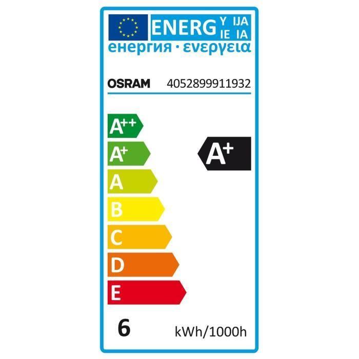 OSRAM-Ampoule-LED-spherique-E14-5-7-W-Depoli-Blanc-chaud miniature 2