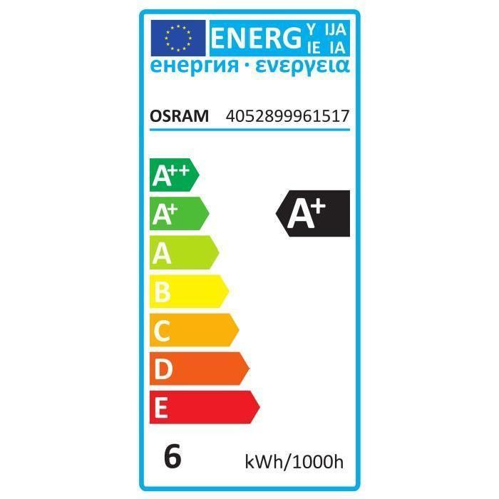 OSRAM-Lot-de-3-Ampoules-LED-B22-flamme-depolie-5-7-W-equivalent-a-40-W-blanc-cha miniature 2