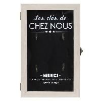Objet De Decoration - Bibelot Boite a cles - Bois - 19 x 30 cm - Noir et beige
