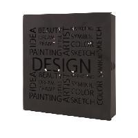 Objet De Decoration - Bibelot Boîte a clés Britt métal laqué noir - Generique