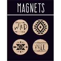 Objet De Decoration - Bibelot EMOTION 4 magnets en liege