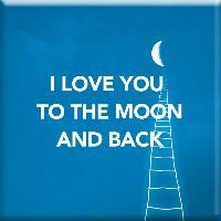 Objet De Decoration - Bibelot Magnet I Love You To The Moon And Back - Draeger