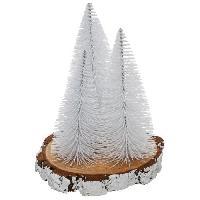 Objet De Decoration - Bibelot Sapin table X3 S/Rondin - H20 cm