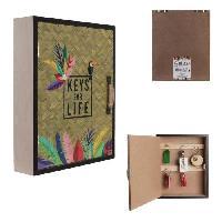 Objet De Decoration - Bibelot THE HOME DECO FACTORY Boîte a clés Exotic M8 - 20 x 25 x 6.5 cm Aucune