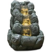 Objet De Decoration - Bibelot ZEN Fontaine LED d'intérieur nature Rocky - Gris Aucune