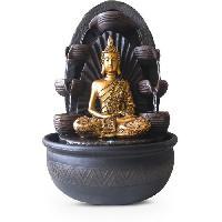 Objet De Decoration - Bibelot ZEN Fontaine d'interieur avec statue Bouddha Chakra - Marron