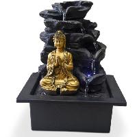 Objet De Decoration - Bibelot ZEN Fontaine d'interieur avec statuette Bouddha Shira - Noir
