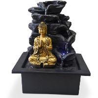 Objet De Decoration - Bibelot ZEN Fontaine d'intérieur avec statuette Bouddha Shira - Noir - Aucune