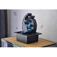 Objet De Decoration - Bibelot ZEN'LIGHT Fontaine d'intérieur Cascade V.2 - Décoration Zen Apaisante - Eclairage LED - SCFR07D - Noire - Aucune
