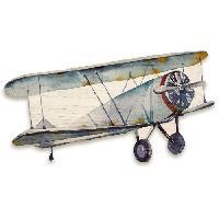 Objet De Decoration Murale Decoration murale en bois - Avion