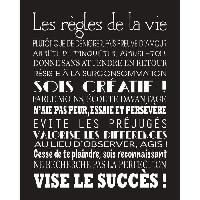Objet De Decoration Murale LIFE Image contrecollée 40x50 cm Les regles de la vie Aucune