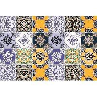 Objet De Decoration Murale Lot de 24 stickers Carreaux - 20x20x1 cm - Vinyle calandre monomerique