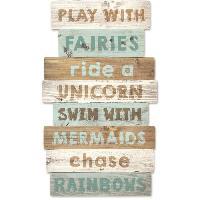Objet De Decoration Murale Panneaux en bois decoratif - Play with fairies