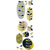 Objet De Decoration Murale Sticker deco Clarisse sous bois - Planche 24x68 cm - Feuilles graphiques vertes