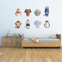 Objet De Decoration Murale Stickers Animaux - 62x40x1 cm - Vinyle calandre monomerique