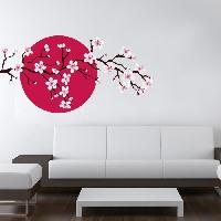 Objet De Decoration Murale Stickers Branche de cerisier - 80x40x1 cm - Vinyle calandre monomerique