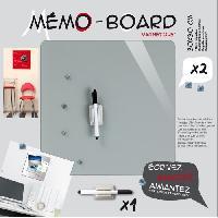 Objet Decoratif EMOTION Memo board magnetique verre gris 30x30 cm - Ikra
