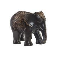 Objet Decoratif Figurine Elephant en resine - 29.5 x 21.5 x 23 cm - Noir