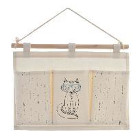 Objet Decoratif Organisateur en bois et polyester a suspendre - Pour enfant - 3 compartiments - 35 x 1.5 x 53 cm Generique