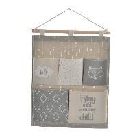 Objet Decoratif Organisateur en bois et polyester a suspendre - Pour enfant - 5 compartiments - 35 x 1.5 x 53 cm Generique