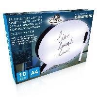 Objets Lumineux D Interieur Bulle lumineuse a messages - Format A4 - 10 LED - 30 x 21 x 4.5 cm - Feutre avec tampon effaceur inclus