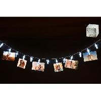 Objets Lumineux D Interieur Guirlande lumineuse pour photos - 10 pinces LED - 200 cm