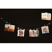 Objets Lumineux D Interieur Guirlande lumineuse pour photos - 16 mini pinces - 230 cm Aucune