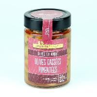 Olive LA PETITE ETAGERE Olives cassées pimentées - 190 g