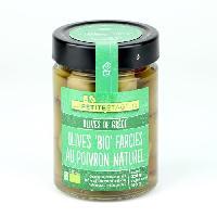 Olive LA PETITE ETAGERE Olives farcies poivron naturel Biologique - 160 g