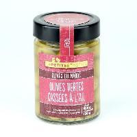 Olive LA PETITE ETAGERE Olives vertes cassées a l'ail - 190 g