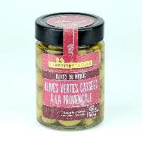 Olive LA PETITE ETAGERE Olives vertes cassées a la provençale - 190 g