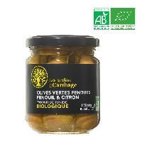 Olive Olives vertes au fenouil et citron - Bio - 130 g - Generique