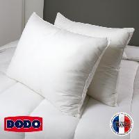 Oreiller Lot de 2 Oreillers 100 coton Confort 45x70 cm blanc