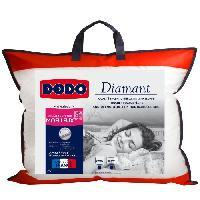 Oreiller Oreiller confort moelleux DIAMANT - 50x70 cm - Passepoil gris