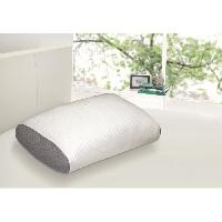 Oreiller Oreiller mousse a memoire de forme Juno confort soft 40x60 cm blanc