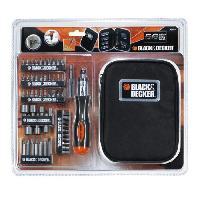 Outil A Main BLACK et DECKER Coffret de tournevis a cliquet avec 56 accessoires