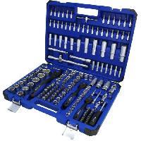 Outil A Main Brilliant Tools - Coffret de douilles et cliquets 1-4. 1-2. 3-8 - 172 pcs