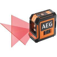 Outil De Mesure AEG Mesure laser CLR215-B. portée 15 m. laser rouge. 2 lignes. avec 1 adaptateur. 2 piles AA. 1 pochette de rangement. bande velcro