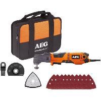 Outil Multifonctions AEG POWERTOOLS Multitool 300 Watts + lames et accessoires