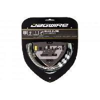 Outillage Cycle - Kit De Reparation Cycle JAGWIRE Kit cable vitesse Road Elite Link Shift - Avant. arriere. boitier - o exterieur 5.0 mm - Argent