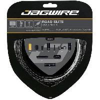 Outillage Cycle - Kit De Reparation Cycle JAGWIRE Kit cable vitesse Road Elite Link Shift - Avant. arriere. boitier - o exterieur 5.0 mm - Dore