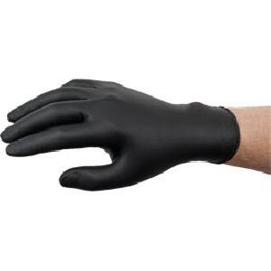 Outils Gants nitrile jetables noirs non poudres T9-10 - boite de 100