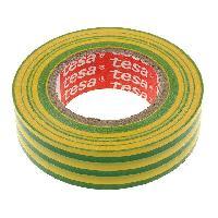 Outils Ruban isolation PVC 19mm L20m jaune et vert