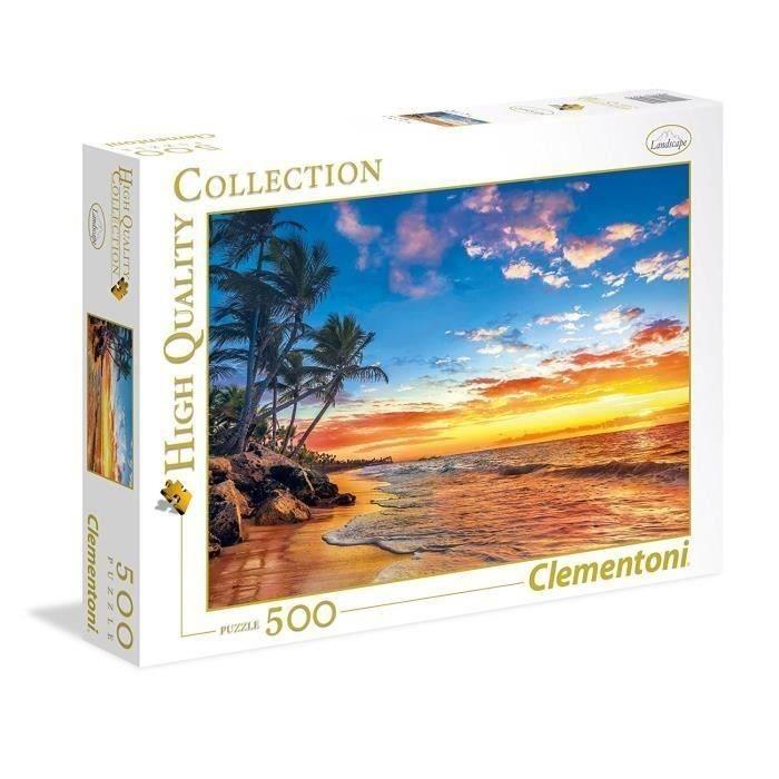 PUZZLE-500-pieces-Plage-paradisiaque-49-X-36-cm-Clementoni