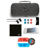 Pack Accessoire Jeux Video Kit de rangemant Carry et Protect - 11 en 1 - Dont 2 Housses en silicone - Nintendo switch